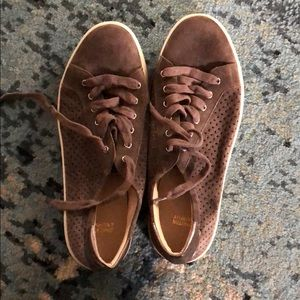 Johnston and Murphy suede sneakers. Size 9